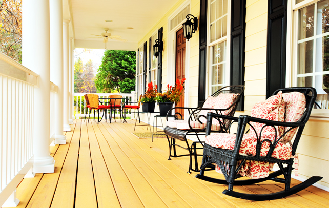 Porch decorating ideas for Outdoor front porch decor