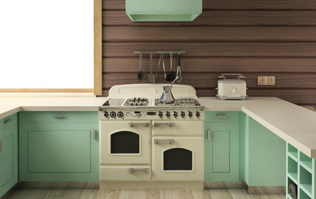 Retro 70 39 s kitchen afreakatheart for 60s kitchen ideas